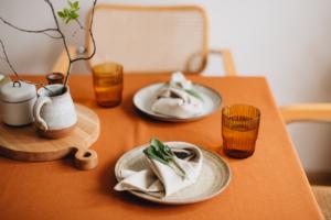 Plátěné ubrousky na stůl